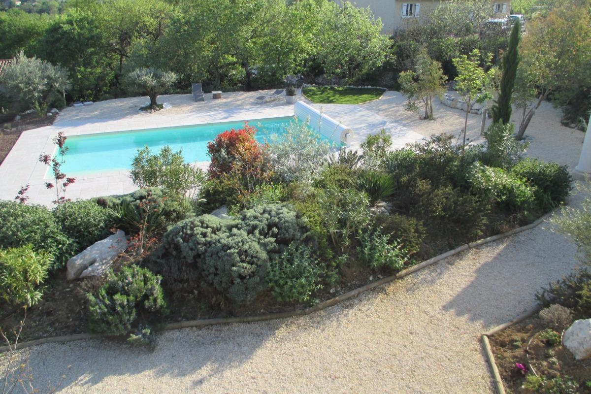 La piscine du mas de Molines - Location de vacances - Vogüé