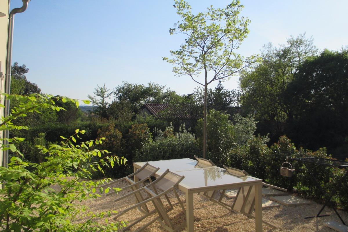 Terrasse du gîte - Location de vacances - Vogüé