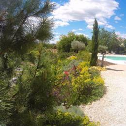 accès piscine - Location de vacances - Vogüé