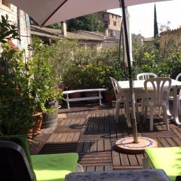 Terrasse - Chambre d'hôtes - Beauchastel