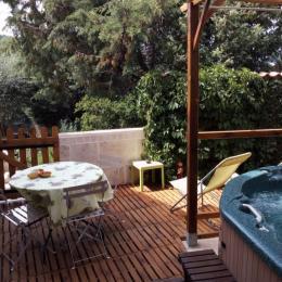 Terrasse privée avec spa - Location de vacances - Salavas