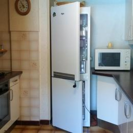 Coin repas, Vue sur Chambre 3, Climatisation - Location de vacances - Les Ollières-sur-Eyrieux