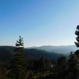 La vue depuis la terrasse  - Location de vacances - Malbosc