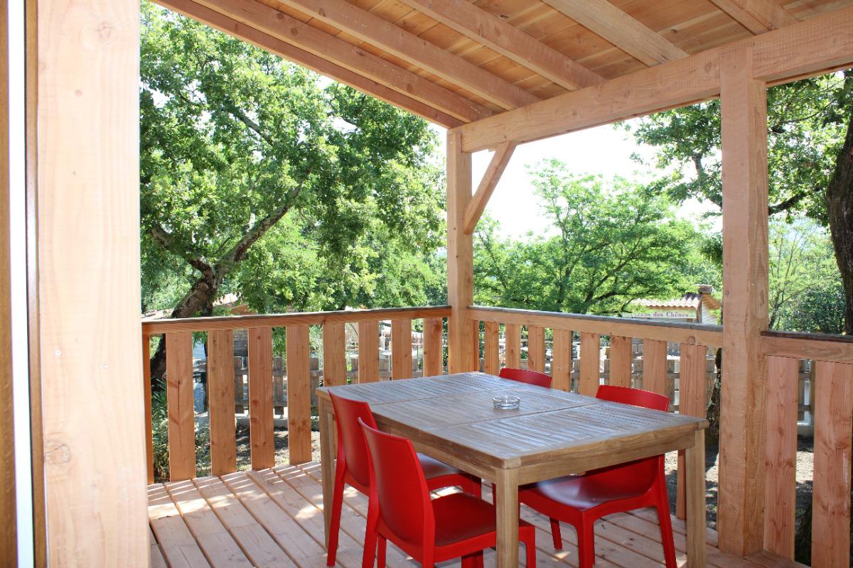 Terrasse de 15m2 - Location de vacances - Chauzon