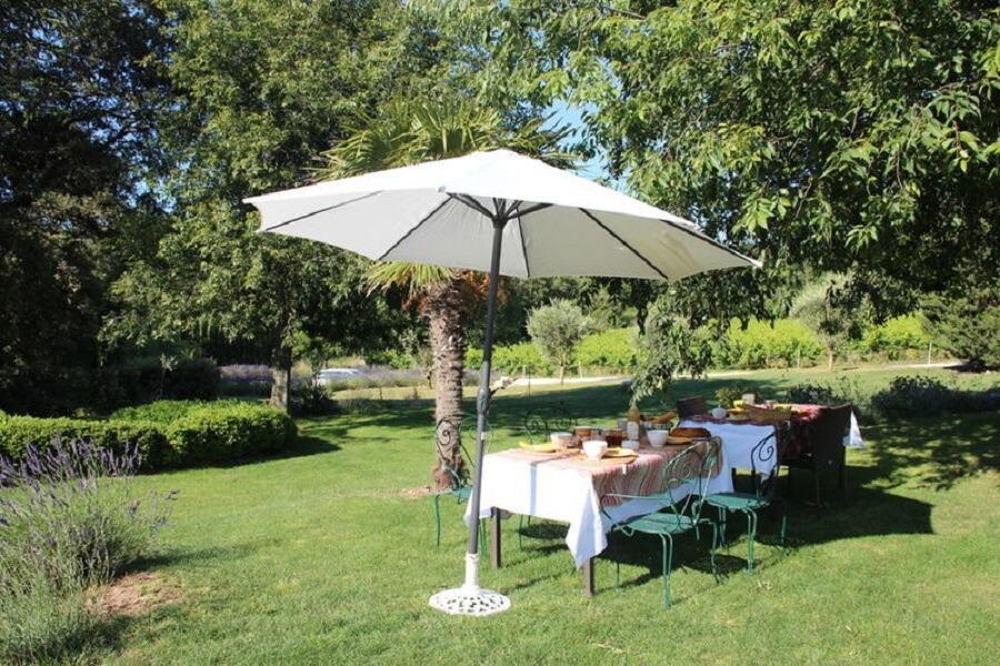 Le Mas de la Borne - le jardin - Location de vacances - Saint-Montan