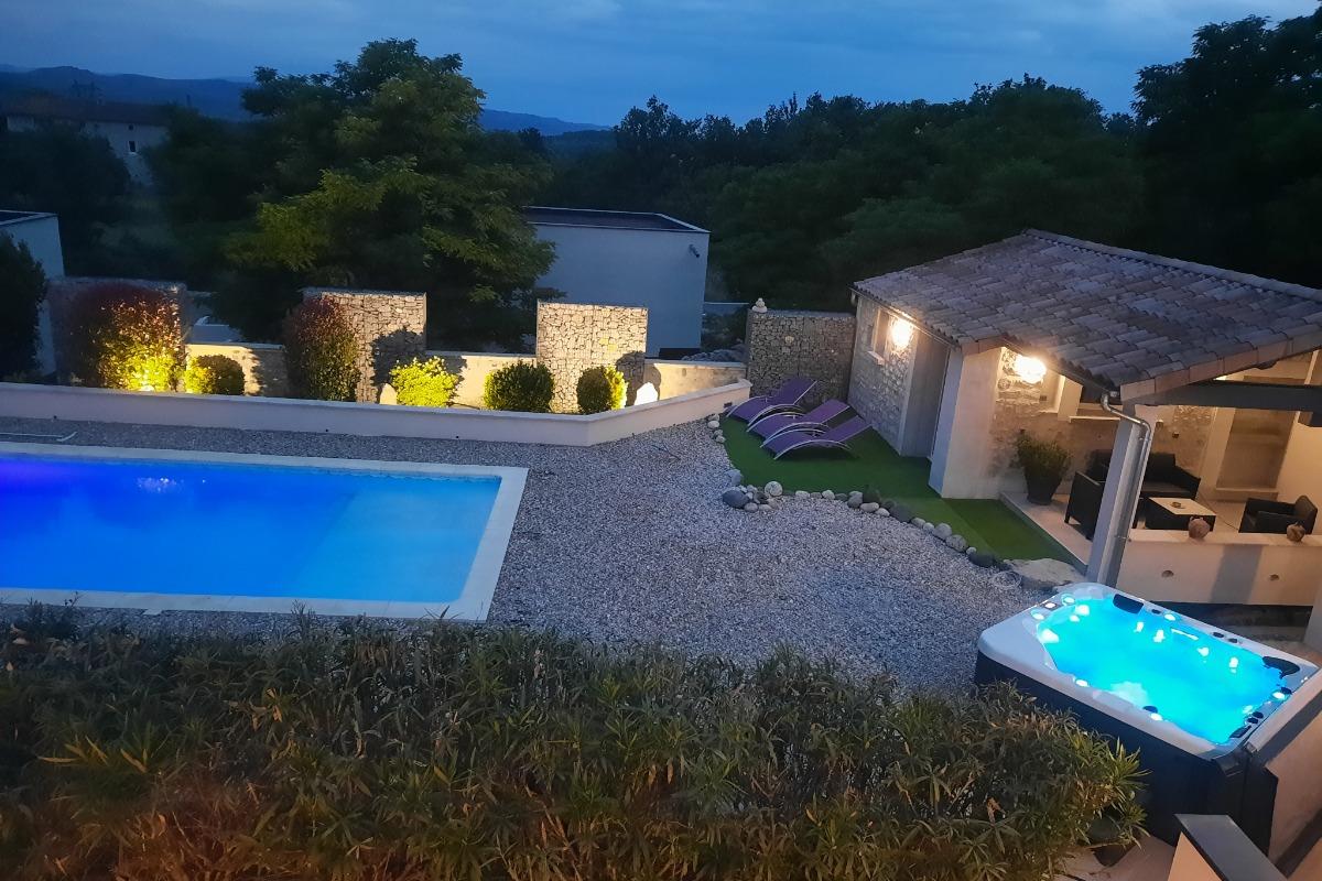 La piscine - Location de vacances - Lussas