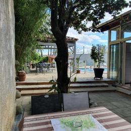 Vue sur la piscine - Location de vacances - Vallon-Pont-d'Arc