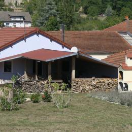 Vue d'ensemble depuis le jardin attenant au gîte - Location de vacances - Vitrey-sur-Mance