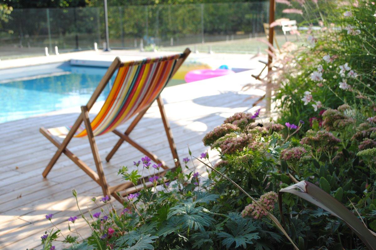 La piscine de nuit - Location de vacances - Bessé-sur-Braye
