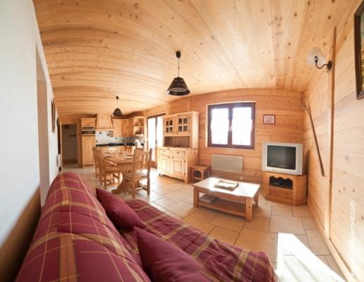 location Le Génépi - station de ski Albiez Montrond en Savoie - Espace Salon - Location de vacances - Albiez-Montrond