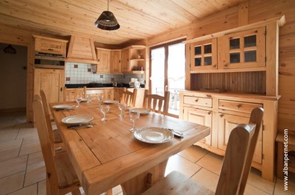 location Le Génépi - station de ski Albiez Montrond en Savoie - Cuisine,  - Location de vacances - Albiez-Montrond