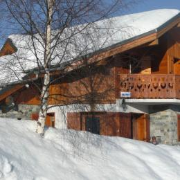 Chalet l'Hermine en hiver - Location de vacances - La Toussuire