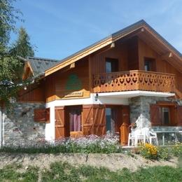 Chalet l'Hermine - La Toussuire - Savoie -chambre lits simples - Location de vacances - La Toussuire