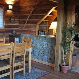 chalet - salle de séjour - Location de vacances - Saint-François-Longchamp