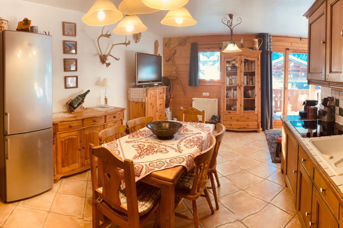 Vue de notre cuisine - Location de vacances - Pralognan-la-Vanoise