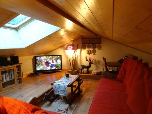 Notre mezzanine avec vélux - Location de vacances - Pralognan-la-Vanoise