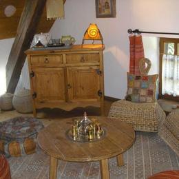 coin salon rose des sables - Chambre d'hôtes - Lépin-le-Lac
