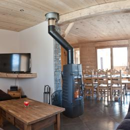 salon télé, Tv lounge - Location de vacances - Albiez-Montrond