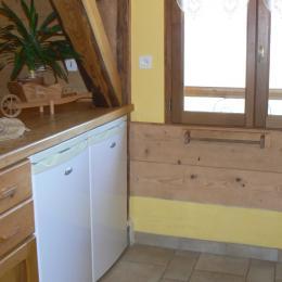 Location maison dans les Bauges - frigo congélateur 1 grand frigo en supplément au rdc - Location de vacances - Arith