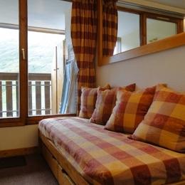 Location appartement Les Menuires - balcon - Location de vacances - Les Menuires