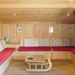 Appartement 1er étage Chalet la Troïka - station familiale la Toussuire Domaine skiable Les Sybelles - coin salon - Location de vacances - La Toussuire
