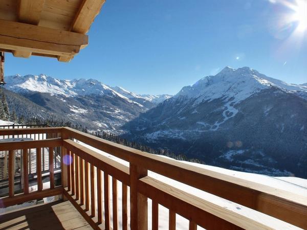 Vue panoramique depuis la terrasse du salon - Chalet à La Rosière - Location de vacances - La Rosière