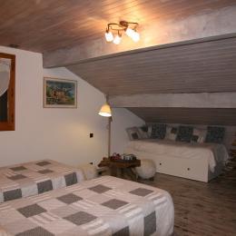 lesmarmhotes.com - Les Marm'hôtes - Chambre d'hôtes en Savoie près de la Plagne - Chambre Gypaète pour 3 - 4 personnes - Chambre d'hôtes - La Côte-d'Aime