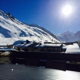 vue terrasse - Location de vacances - Tignes