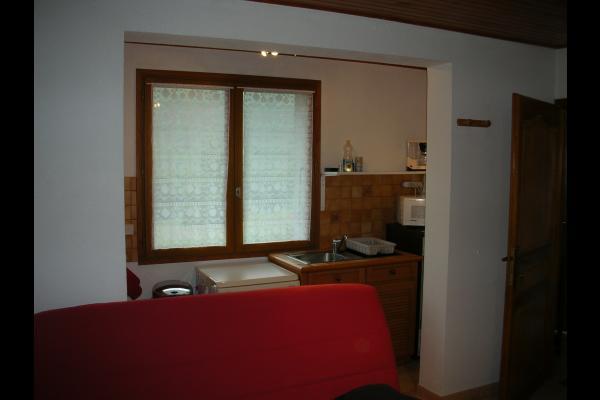 Chalet Le Pao - Saint Sorlin d'Arves - séjour - coin cuisine - Location de vacances - Saint-Sorlin-d'Arves