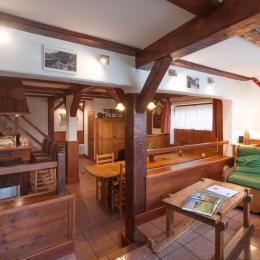 salon, salle à manger, cuisine - Location de vacances - Champagny-en-Vanoise