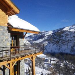 Chalet 12 personnes très belle vue Valloire - vue en hiver - Location de vacances - Valloire