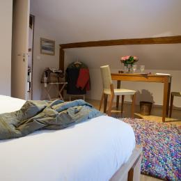 Salon-détente (3è couchage éventuel) - Chambre d'hôtes - Entremont-le-Vieux