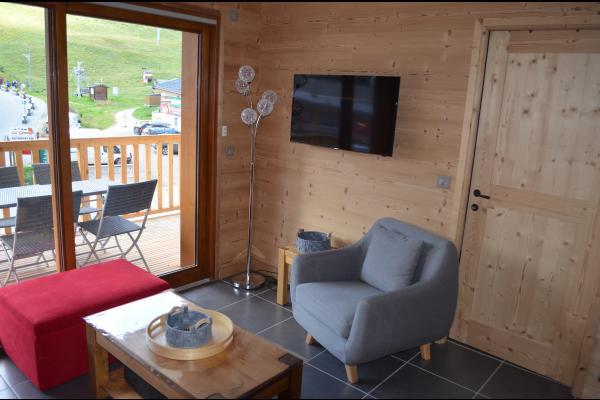 location station de ski la Toussuire Les Sybelles - Vue de la terrasse - Location de vacances - La Toussuire