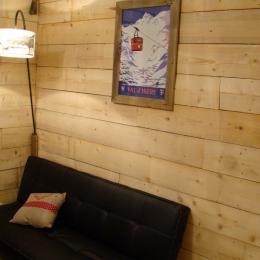 Studio à louer pour vos vacances à Val d'Isère - Ambiance chalet coin salon - Location de vacances - Val-d'Isère