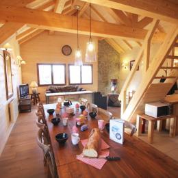Chalet des Fées - pièce principale - Location de vacances - Saint-François-Longchamp