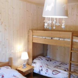 Appartement Le Lièvre Blanc - Chalet neuf à La Toussuire en Savoie - chambre 3 - Location de vacances - La Toussuire