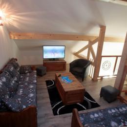 Salon sur mezzanine - Location de vacances - Valloire