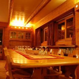 Salon cheminée - Location de vacances - Longefoy Plagne Montalbert