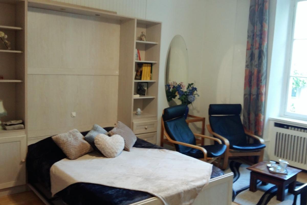 Pièce de vie : Studio dans un hôtel de charme situé à Aix les Bains en Savoie pour 2 personnes - Wifi gratuit - Location de vacances - Aix-les-Bains