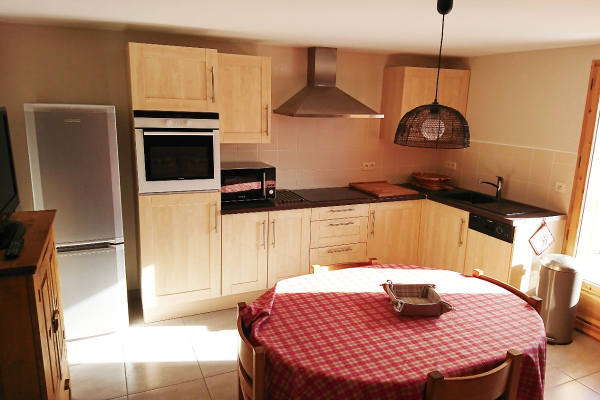 appartement pré villot - coin cuisine - Location de vacances - Saint-François-Longchamp