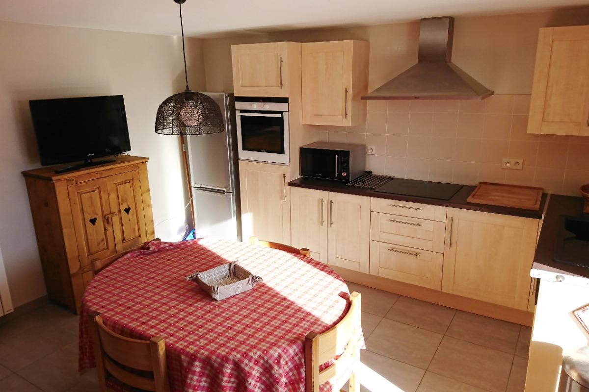 appartement pré villot - coin repas - Location de vacances - Saint-François-Longchamp