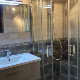 salle de bains lavabo douche lave-linge - Location de vacances - La Giettaz