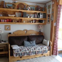 séjour avec porte sur la terrasse - Location de vacances - Valloire