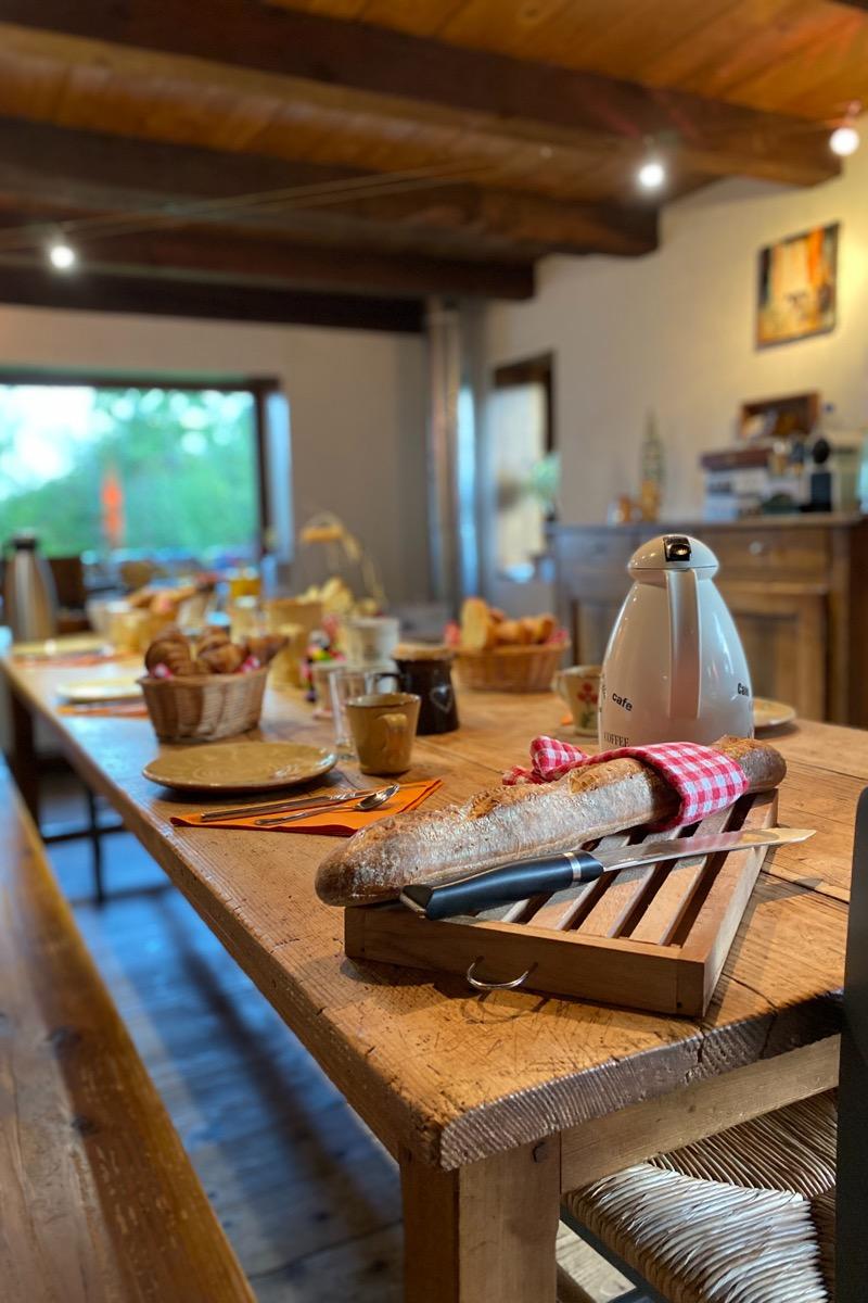Les petits-déjeuners - Chambre d'hôtes - Trévignin