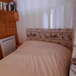 Chambre à l'étage avec lit de 140cm. - Location de vacances - Valmeinier