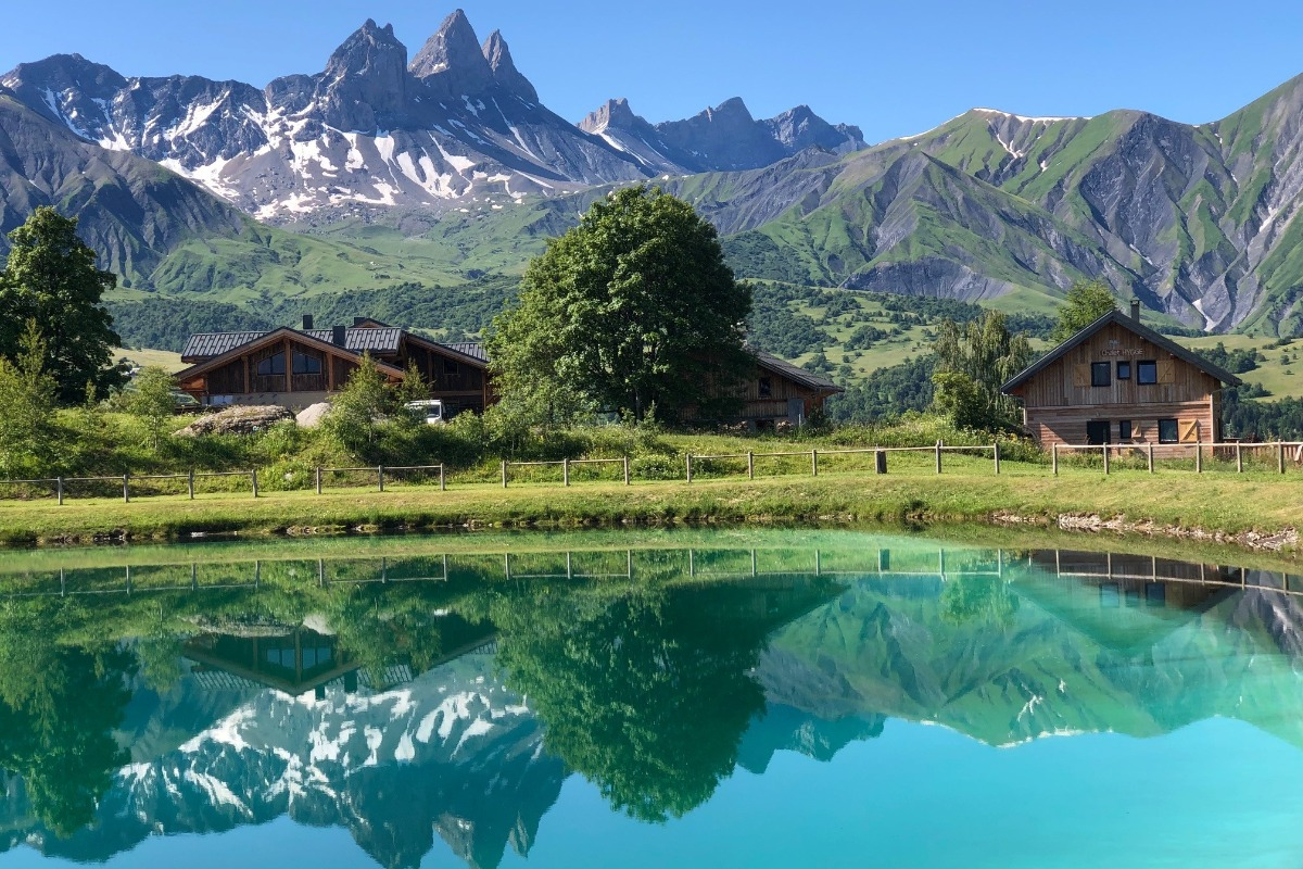 Vue terrasse Chalet Hygge - Albiez - Location de vacances - Albiez-Montrond