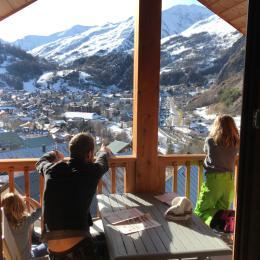 balcon et vue en hiver - Location de vacances - Valloire