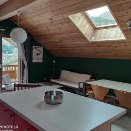 Couloir entre pièce à vivre et chambres - Location de vacances - Valloire
