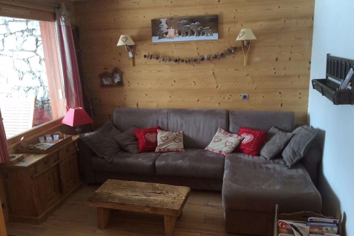 Salon - couchage double et méridienne - Location de vacances - Valmorel