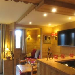 La cabine, et son lit gigogne, prête pour la nuit - Location de vacances - Valmorel